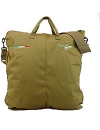 Bolsa para casco de vuelo bordada con águila Turrita (fuerza aérea italiana) - Tan desert (Coyote)