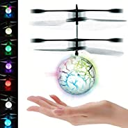 UTTORA Pelota voladora Flying Ball Crystal Intermitente LED RC Juguete de inducción infrarroja Helicóptero Avi