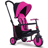 smarTrike smarTfold 300 Plus Folding Baby Tricycle for 1 Year Old, Pink