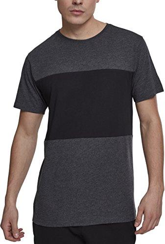 Urban Classics Herren T-Shirt Contrast Panel Tee Mehrfarbig (Cha/Black 00314)