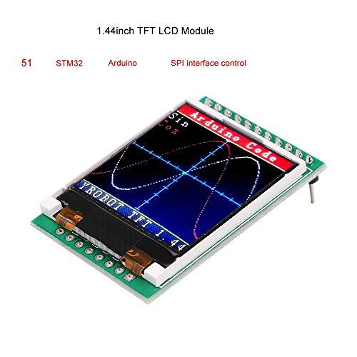 MakerHawk Pantalla TFT LCD 1.44 Pulgadas TFT LCD Module, 128x128 SPI, Pantalla gráfica en Color, 51 STM32 Arduino Rutinas para reemplazar 5110 OLED 5V para Arduino