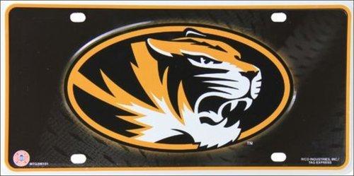 BNHF Missouri Tigers Metal Novelty License Plate LP-5553 (Missouri Plate License)