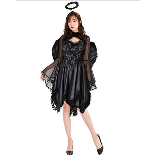 CYY Für Immer Junge Frau Teufel Halloween Kostüm Ball Lady Halloween Sexy Dark Angel Kostüm Spiel Uniform Vampire Bride Devil Pack (Dark Angel Kostüm Für Jungen)