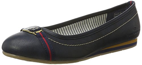 TOM TAILOR Women's 2790504 Ballet Flats blue Size: 4 UK