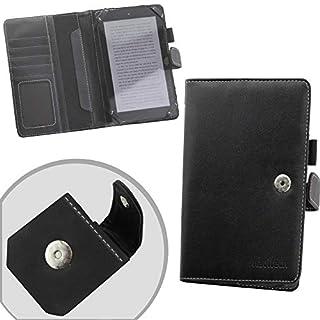Navitech echte schwarze 7 Zoll bycast Leder flip Trage Tasche / Cover im Buch Stil für das Arnova 7F G3 Tablet
