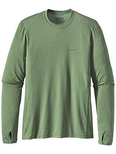Herren Langarmshirt Patagonia Tropic Comfort Crew II T-Shirt transit green