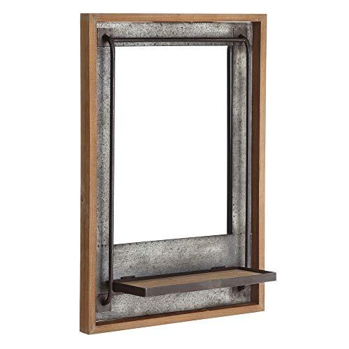 Espejo Estante Gris Metal Industrial Entrada 70 x