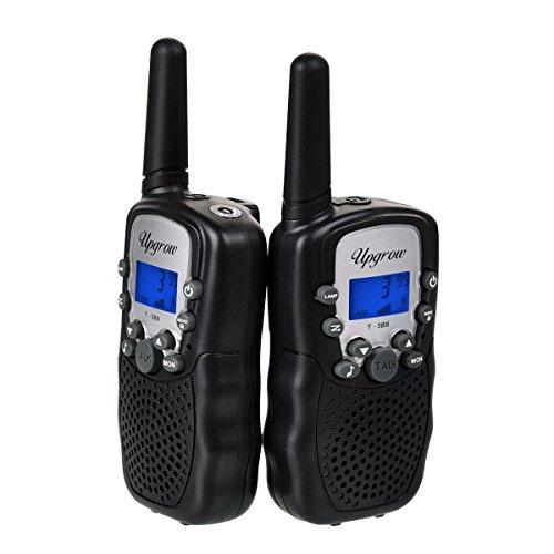 2x Walkie Talkies Set Kinder Funkgeräte 3KM Reichweite 8 Kanäle mit Taschenlampe Walki Talki Kinder (schwarz)