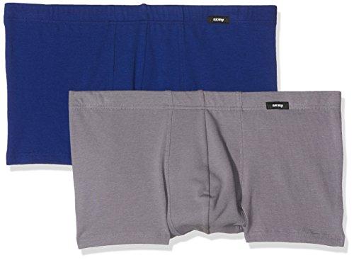 Skiny Herren Retroshorts Advantage Pant Dp, 2er Pack grey selection
