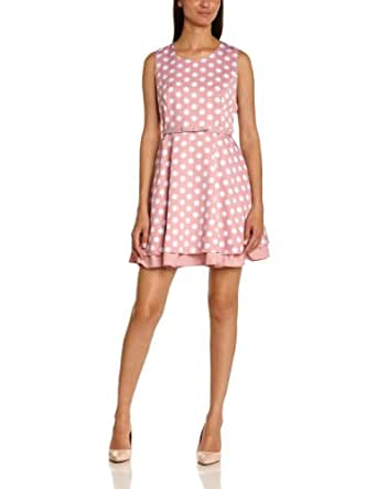 Molly bracken - Robe starlette pois et ceinture - cocktail - femme - rose clair (rose poudr) - FR : 36 (Taille Fabricant : 1)
