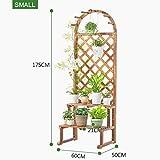 Blumenständer Große Holzpflanze Stand Pflanzer Blumentopf Regal Display Robust BAU Blume Rack Für Indoor Outdoor Garten Yard Decor Blumentreppe (größe : B)