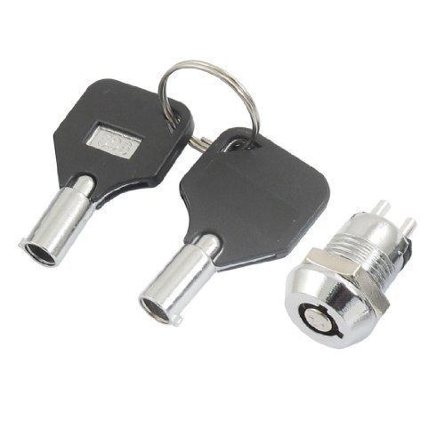 sourcingmap® 12 mm Home Vierteldrehung Gewinde Schubladen Hebelschloss mit 2 Schlüsseln