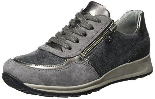 ara Osaka, Damen Sneaker, Grau (Zinn/Titan,Crow/Fucile), 37.5 EU (4.5 UK) (Zinn Fuß)