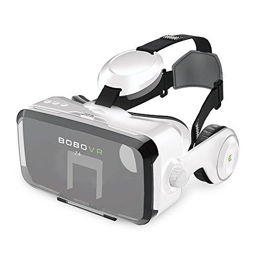 3D VR Brille, VR Headset, 3D Virtuelle Realität Brille Bluetooth Virtual Reality Brille Headset Video Box mit Kopfhörer Für VR Spielen und 3D Filme Kompatibel mit iPhone X 8 7 6 6s/plus,Samsung s8 s7 s6/plus/edge Note 8,HUAWEI und Handys mit 4,0 – 6 Zoll Bildschirm