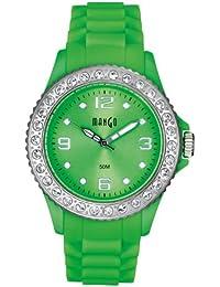 Mango A68336-1GR12KV - Reloj para mujeres, correa de silicona color verde