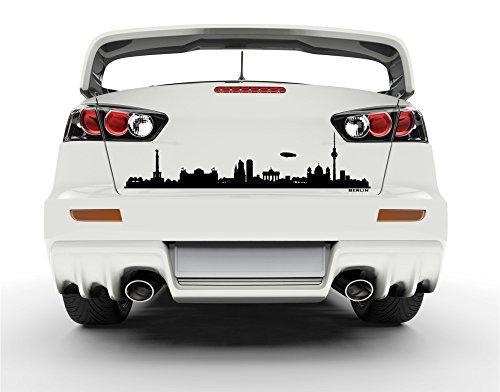 universumsum Autoaufkleber Skyline Berlin Hellgrün 100 x 24 cm uss051_a-100-072 Car-Tattoos Autotattoo Auto Tuning Car Styling Selbstklebend