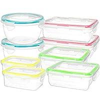 Southern Homewares SH-10200 16 Piece Clip Lock Food Container Storage Set - Microwave & Dishwasher Safe Kitchen Box