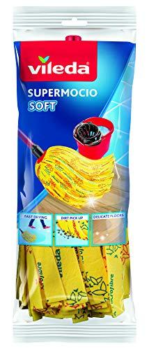 Vileda SuperMocio Soft Ersatzmop - extra starke Saugkraft mit 30{1a47f302628ed977212a3f63bbd121cb195e80efb1a451cd966f3ff20a1cf5ce} Mikrofaseranteil