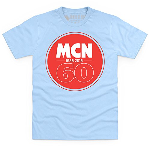 MCN 60th Anniversary T-Shirt, Herren Himmelblau