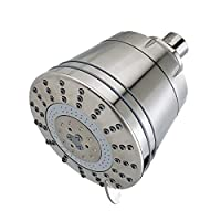 ‏‪Sprite Showers AE7-BN-R Sprite AE7-BN Pure 7-Setting All-in-One Filtered Shower Head, Brushed Nickel‬‏