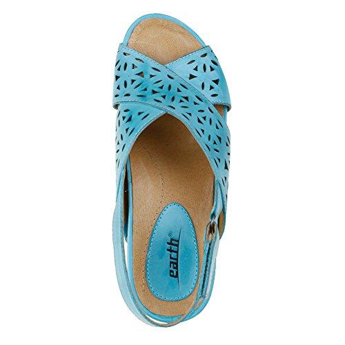 Earth Aries Damen Leder Keilabsätze Sandale Turquoise