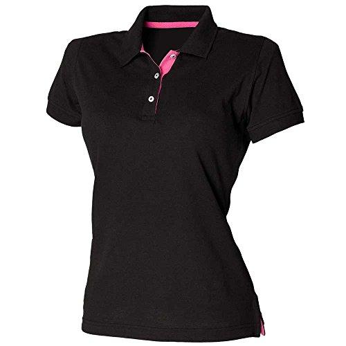 HenburyDamen T-Shirt Black/Fuchsia