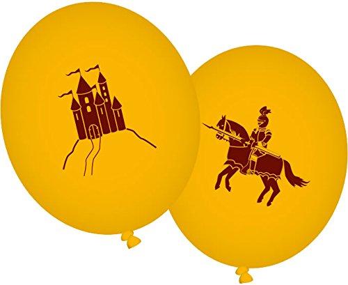 Preisvergleich Produktbild 8 Luftballons * DRACHE UND RITTER * für Party und Geburtstag // Kindergeburtstag Mottoparty Ballon Ballons Kreuzritter Mittelalter