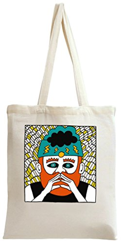 Hipster Redhair Beard Mouctache Guy Drawing Tote Bag
