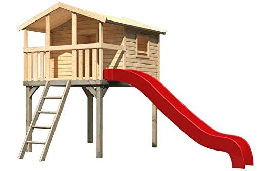Akubi Karibu Stelzenhaus Benjamin Set M Spielhaus Kletterturm Spielturm Rutsche