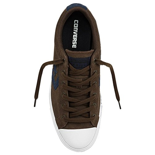 Converse Hommes Star Player Suede Ox Suede Baskets Cocoa / Blanc