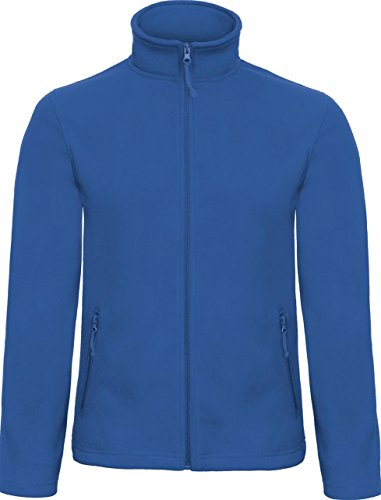 B & C Collection ID. 501 Fleece Herren 100% Polyester Microfleece Full Zip Jacket Blau - Königsblau