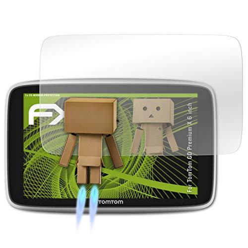 atFoliX Protettore Schermo per TomTom GO Premium X 6 inch Pellicola a specchio, effetto specchio FX Specchio Pellicola protettiva