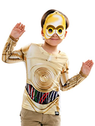 viving Kostüme viving costumes231049 C3PO Boy Lange Ärmel Shirt (6-8 Jahre, One Size)