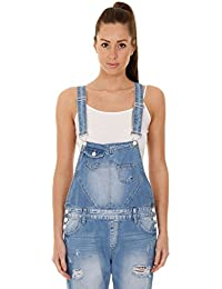 613078423a1e36 Simply Chic Damen-Latzhose - Hellblau Overalls für Damen Denim Jean Mode  WOMDE12