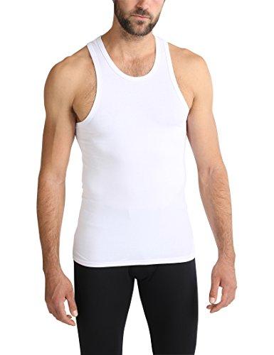 Ultrasport Herren Unterhemd / Achselshirt mit breiten Trägern für hohen Tragekomfort, Weiß, 2XL