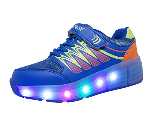 Chaussures à Roulettes, WINNEG Baskets Enfants USB Rechargeable Lumineuse avec Roue pour Garçons et Filles