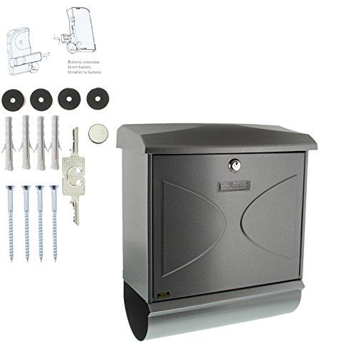 BURG-WÄCHTER, Briefkasten-Set mit integriertem Zeitungsfach, A4 Einwurf-Format, Verzinkter Stahl, Futura 926 Si, Silber - 6