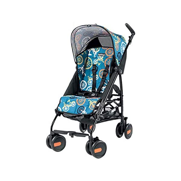 Baby stroller can sit reclining folding light portable mini ultra light small stroller cart 50 * 101 * 84cm lttc EASY RIDE FOR YOUR BABY OR TO: The ltyec Modular Travel System features new Cruiser Tires to provide your child with a smooth ride, while also making the stroller effortless to push with its ergonomic handles Designed for travel, the stroller is lightweight, has a fast, one-hand fold, and stands on its own when folded. An oversized canopy with flip-out visor and peek-a-boo window provides shade and airflow on sunny days and a convenient basket under the seat provides storage for baby items. 1