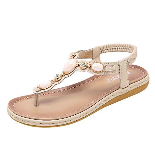 Bellelove Sandalen Frauen Bequeme Flip-Flops Bohemia Sommer Bequeme Schuhe Flach Mädchen - Frauen Schuhe Camper Für