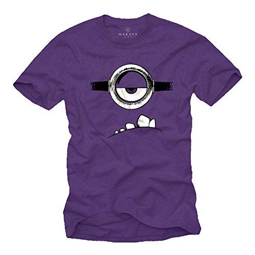 Evil Minion T-Shirt lila Größe S