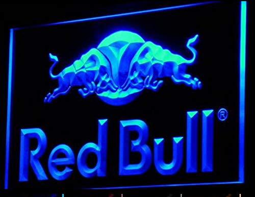 Red Bull LED Zeichen Werbung Neonschild Blau - Red Bull Logo
