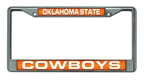 NCAA Laser Cadre plaque chrome, Oklahoma State Cowboys, 12 Inchesx6