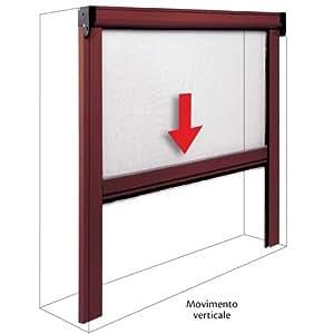 Zanzariera in alluminio a molla per porte e finestre 80x170 marrone casa e cucina - Amazon zanzariere per finestre ...