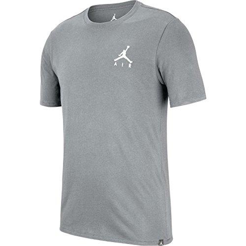 Nike Herren JMPMN AIR EMBRD Tee T-Shirt, Grau, M (Air Jordans Grau Und Schwarz)