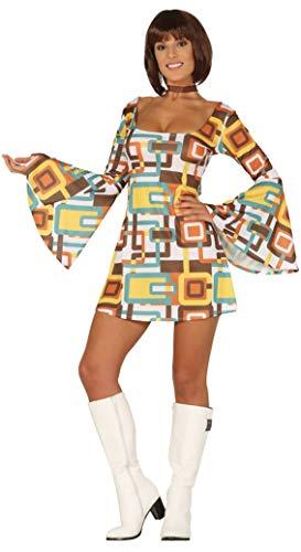 (Fancy Me Damen Hippie-Kostüm 1970er Jahre Hippie Glocke Ärmel Festival Kostüm Outfit)
