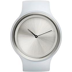 Ziiiro Ion Milky White Kunstoff Acryl Edelstahl Uhr elegante Trend Watch