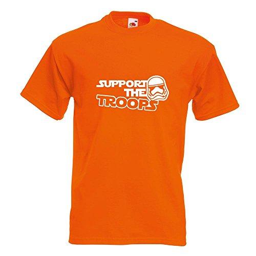 KIWISTAR - Support the Troops T-Shirt in 15 verschiedenen Farben - Herren Funshirt bedruckt Design Sprüche Spruch Motive Oberteil Baumwolle Print Größe S M L XL XXL Orange