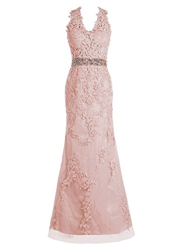 Moderne Kostüm Juliet (Bbonlinedress Damen Modern Tüll Appliques Promi-Kleider Abendkleider Blush)