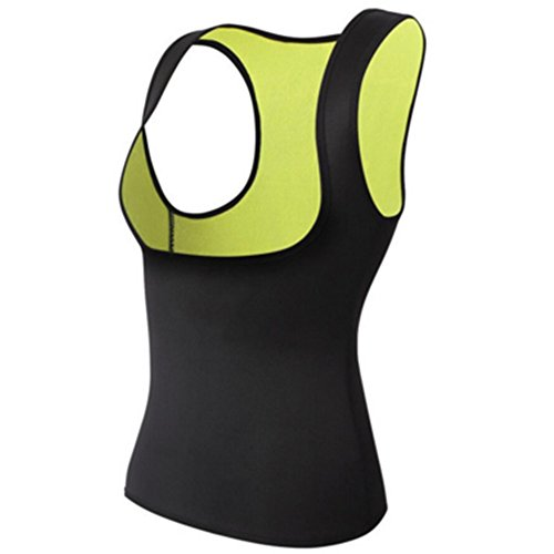 YooGer Frauen Sportbekleidung, Abnehmen Taille Trainer Cincher Sport Yoga Sweat Sauna Anzug Shirts Neopren Body Shapers Top Weste. (Schwarz Größe: ()