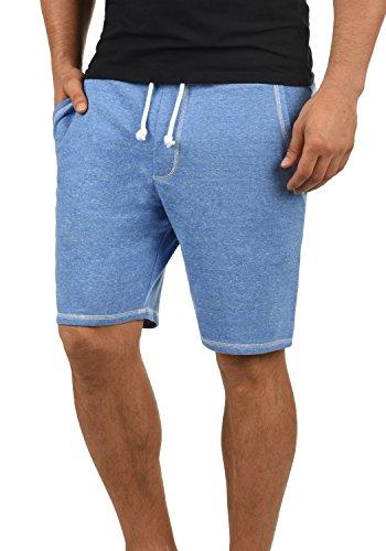 !Solid Toljan Herren Sweatshorts Kurze Hose Jogginghose Mit Melierung Und Kordel Regular Fit, Größe:L, Farbe:Palace Blue M (5612M) - 3/4 Sweat
